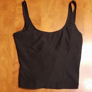 Nike cropped tank sports bra black